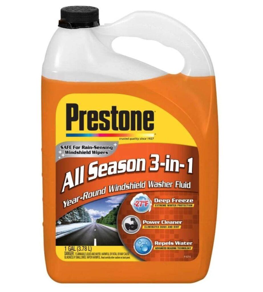 Prestone, one of the best windshield wiper fluids