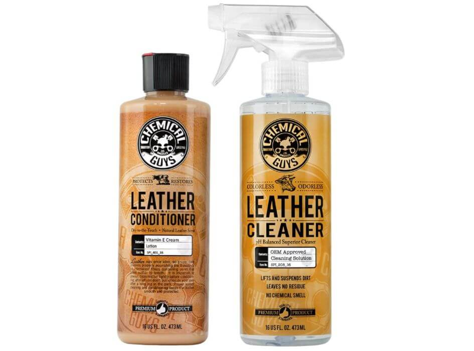 how to take care of leather car seats with Chemical Guys products