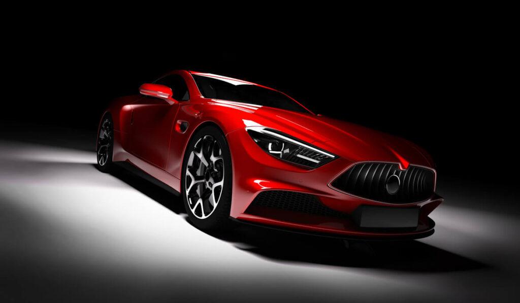 beautiful shiny car