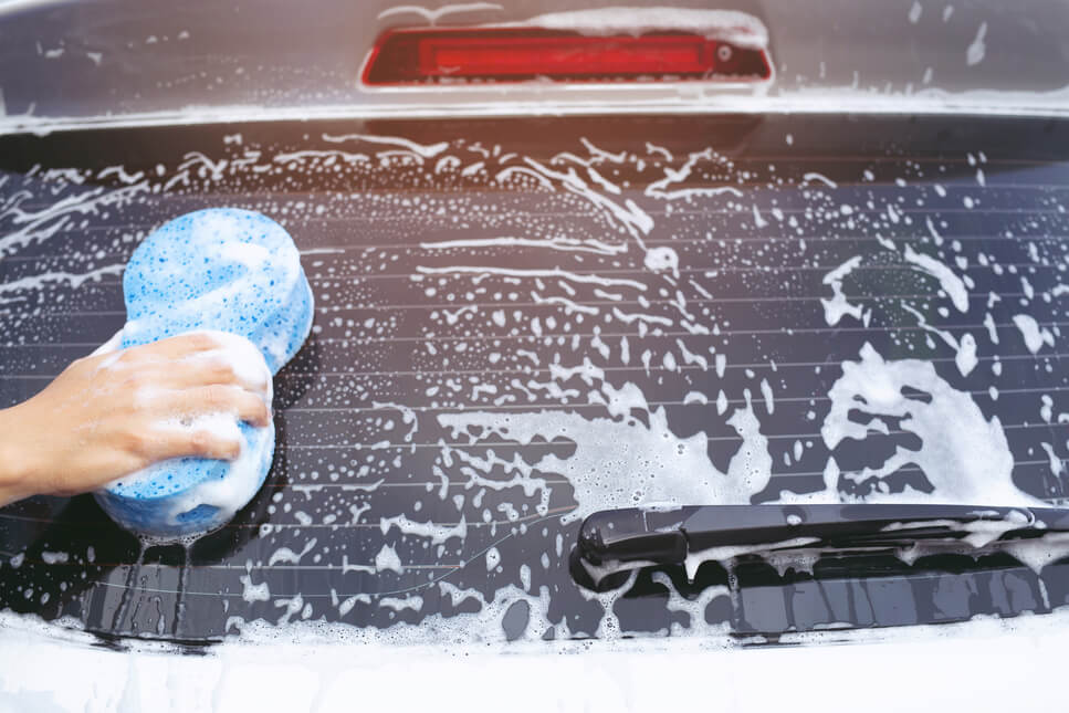 traditional car washing
